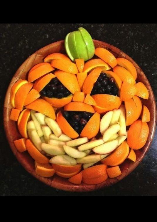 Jack O' Lantern Fruit Bowl