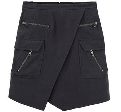 Under.Ligne by Doo Ri Military Zip Skirt