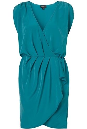 Topshop Draped Front Dress