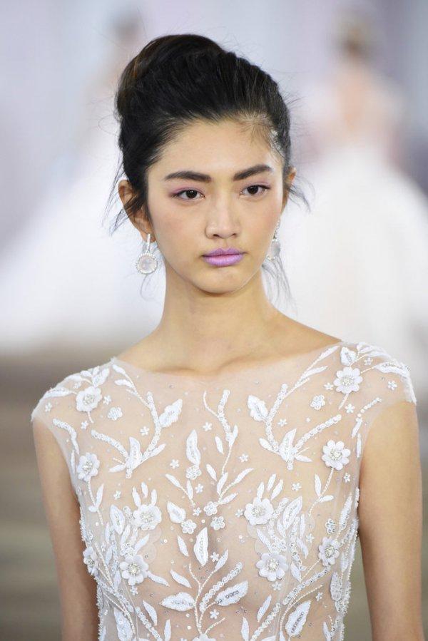 hair, wedding dress, hairstyle, runway, fashion,
