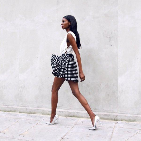 clothing, pattern, footwear, dress, polka dot,