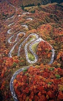 Iroha-zaka Road, Japan