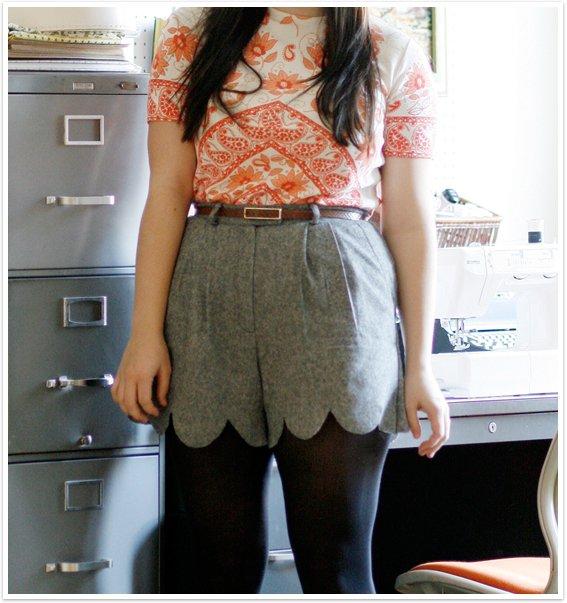 Fun Scalloped Shorts