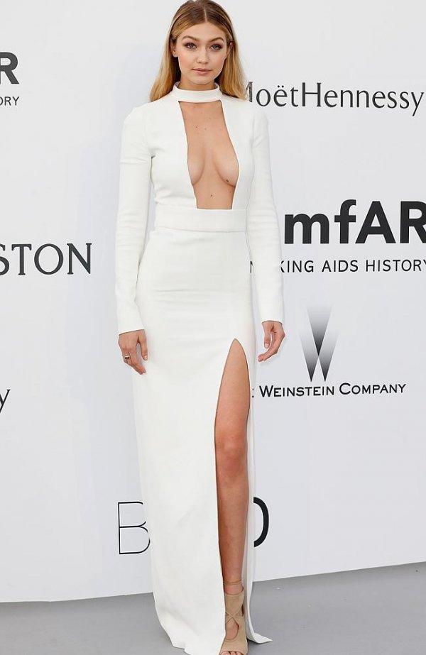 amfAR,white,clothing,dress,wedding dress,