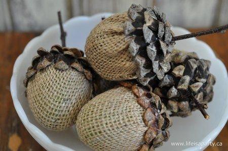 Burlap Wrapped Cones