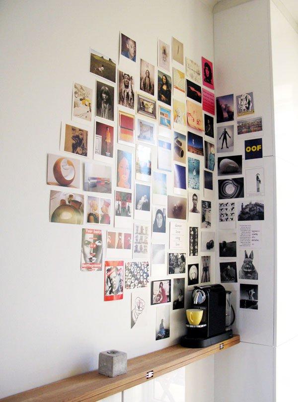 Unframed Corner Photo Wall