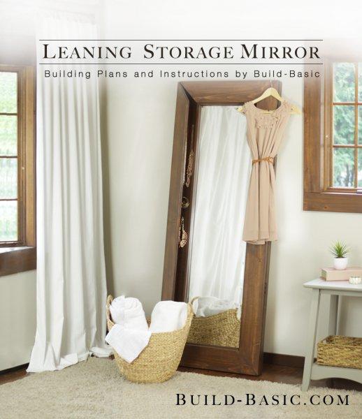 Add Storage to a Full-length Mirror