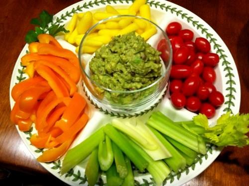 Guacamole and Veggies