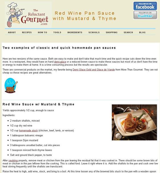 Red Wine Sauce