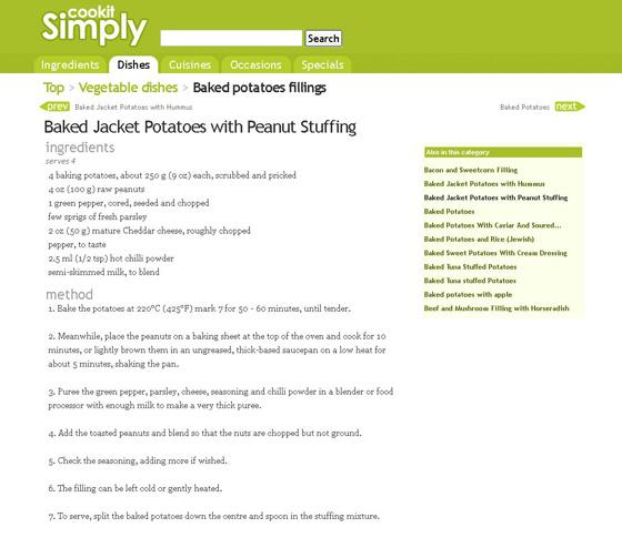 Peanut Stuffing