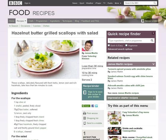 Hazelnut Butter Grilled Scallops