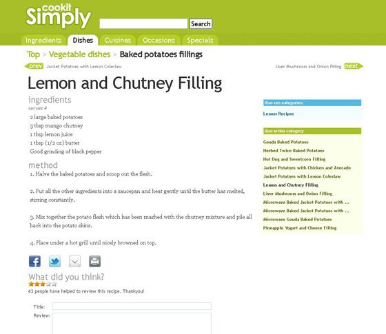 Lemon & Chutney Filling