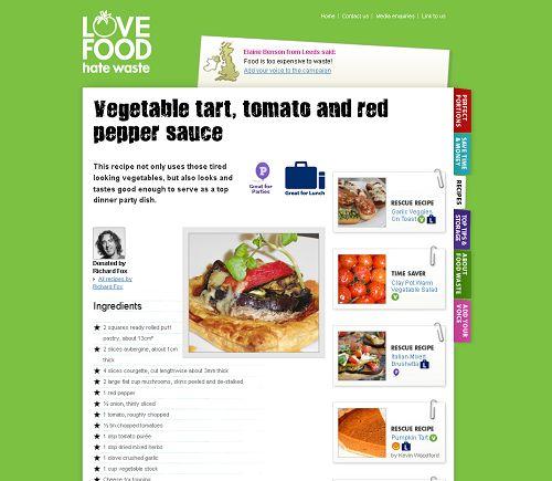 Vegetable Tart, Tomato & Red Pepper