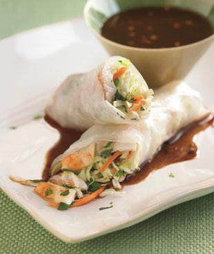 Shrimp Spring Rolls with Hoisin Dipping Sauce