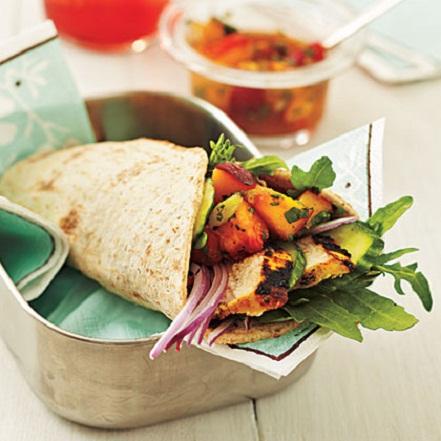 Curry Chicken Wrap Summer Recipe...