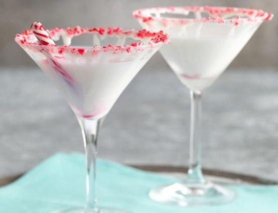 White Chocolate Peppermint Martini...