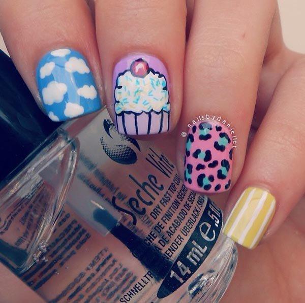color, nail, finger, blue, hand,