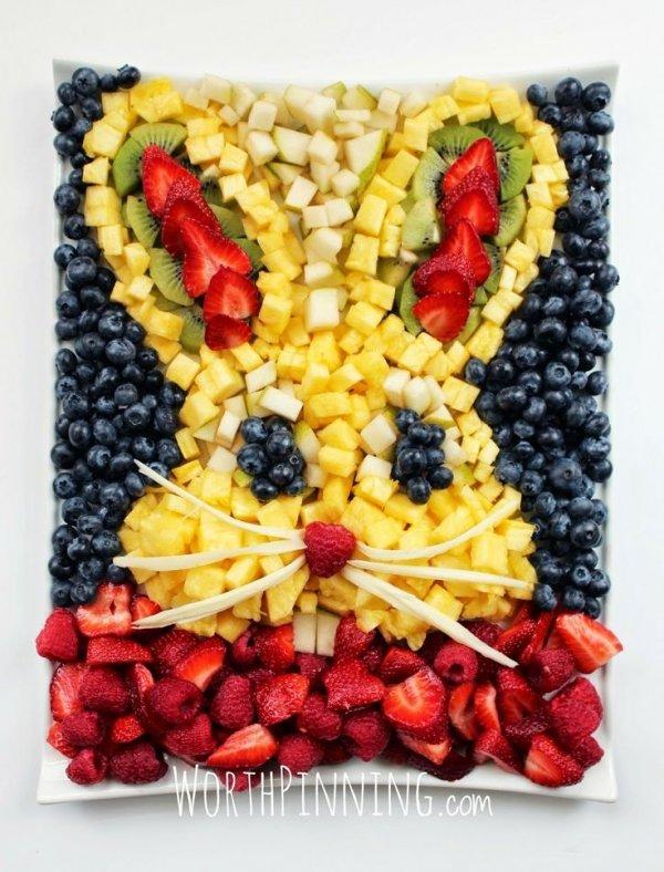 Bunny Head Fresh Fruit Platter