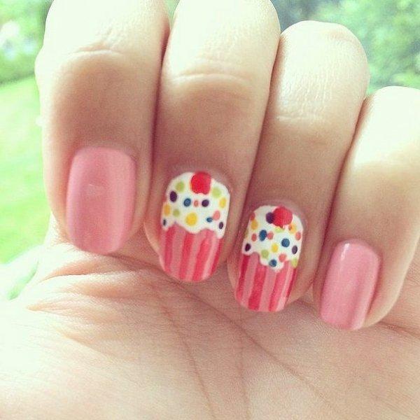 Cupcake Nails 28 Super Cute Ideas For Summer Nail Art