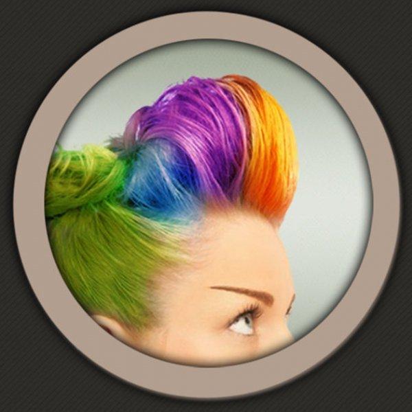 hair, purple, hair coloring, forehead, long hair,