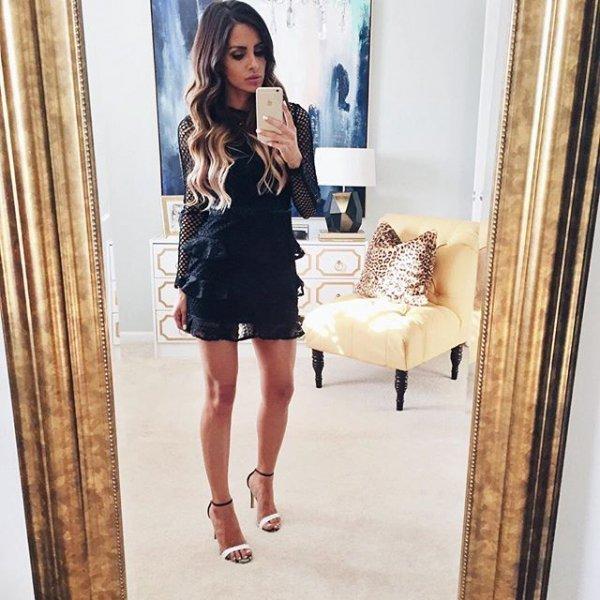 clothing, dress, sleeve, little black dress, leg,