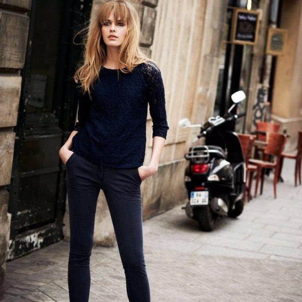 black, clothing, footwear, jeans, sleeve,