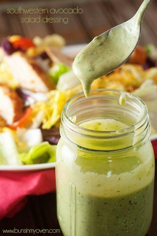 Southwestern Avocado Salad Dressing -