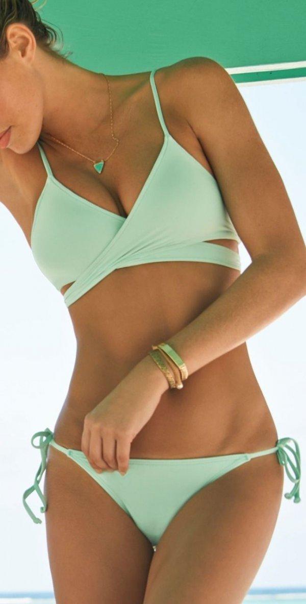 Mint Cross Swimsuit