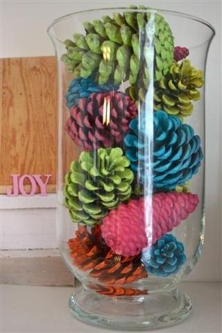 Multi-Colored Pine Cones