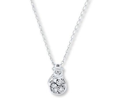 Snowman Diamond Pendant
