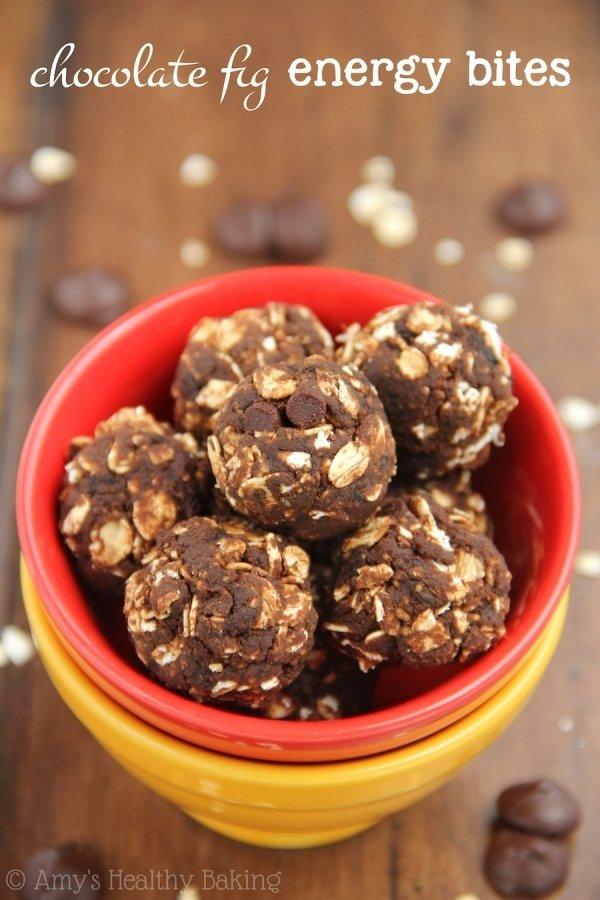 Healthy Chocolate Fig Energy Bites