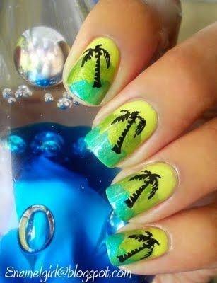 Palm Tree Nails