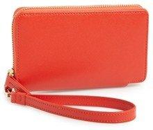 Halogen 'Cassie' Saffiano Leather Zip around Wallet