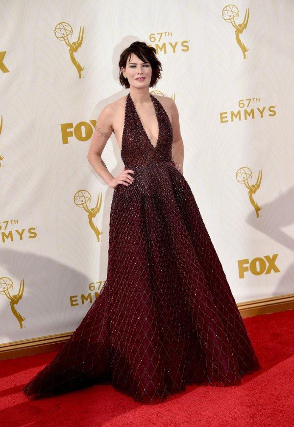 Lena Headey at the Emmy Awards