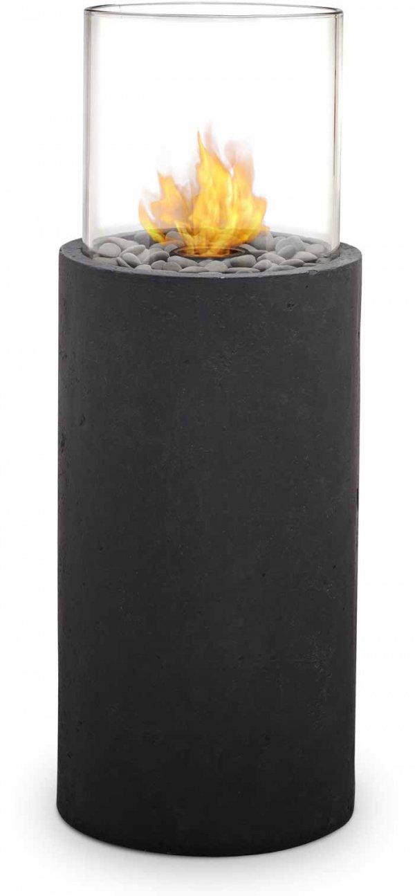 Modesto Fire Column, Black Slate