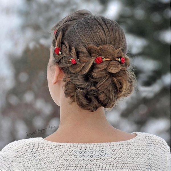 hair, hairstyle, ringlet, long hair, chignon,
