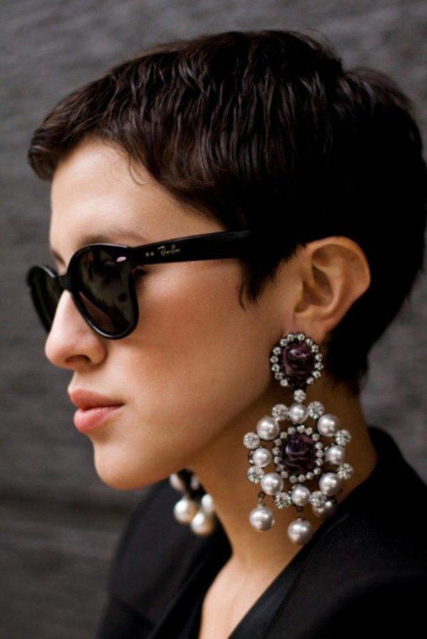 eyewear,hair,black,clothing,woman,