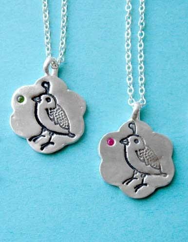 Susie Ghahremani Silver Quail Necklace