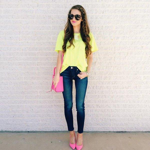 clothing, pink, yellow, sleeve, magenta,