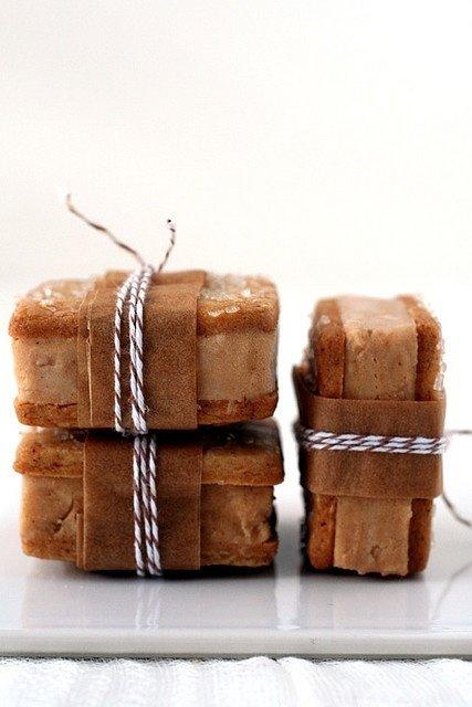 Pumpkin Gingerbread Ice Cream Sandwich