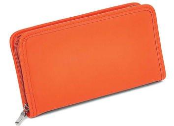 Orange Zip around Jewelry Wallet