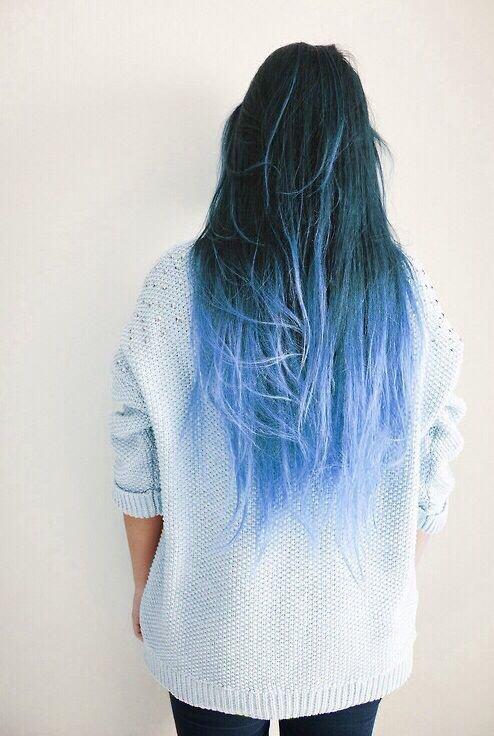 Blue Dip-dye