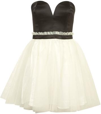 Topshop Dress up Bandeau Prom Dress