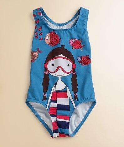 Little Marc Jacobs Scuba Miss Marc Swimsuit