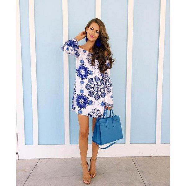 clothing, day dress, blue, dress, sleeve,