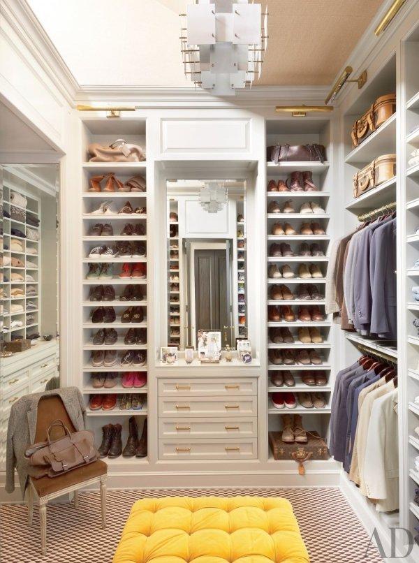 Contemporary Dressing Room and Closet