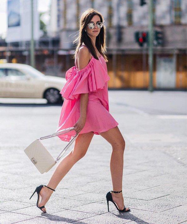 clothing, pink, footwear, fashion, leg,
