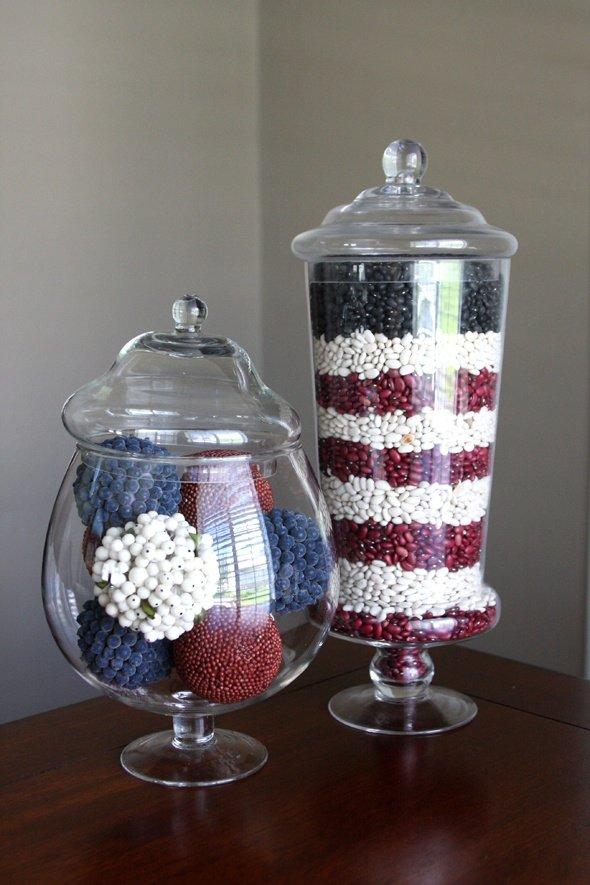 Memorial Day Apothecary Jars