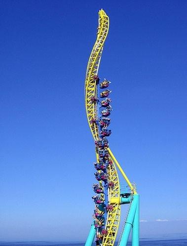 blue,amusement park,amusement ride,