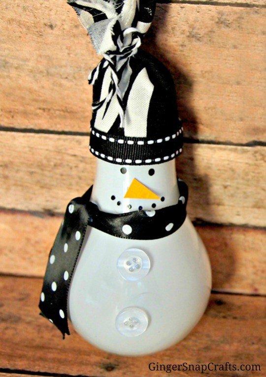 snowman, lighting, bottle, Ginger, SnapCrafts.com,